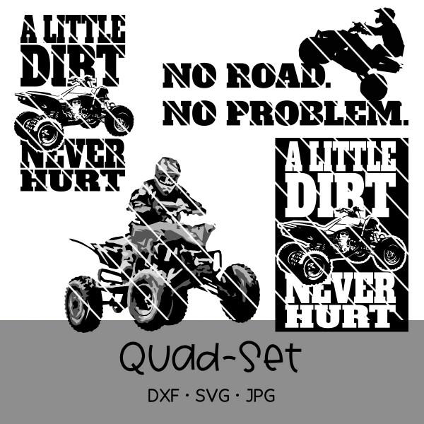 Plotterdatei Quad/ATV-Set - 4 Motive
