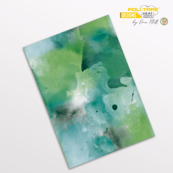 Flexfolie DIN A4 Aquarell Grün - POLI-FLEX® Designs by Oma Plott